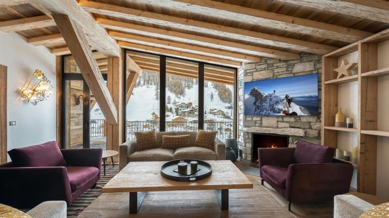 Val d'Isère Location Appartement Luxe Varvite Séjour