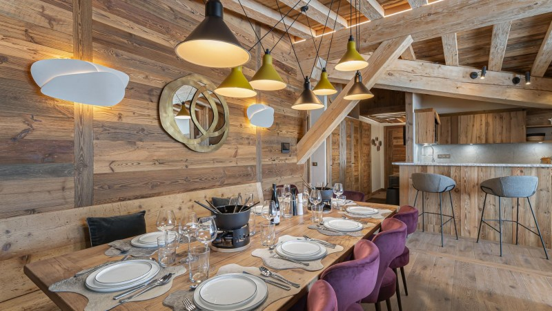 Val d'Isère Location Appartement Luxe Varvite Table A Manger