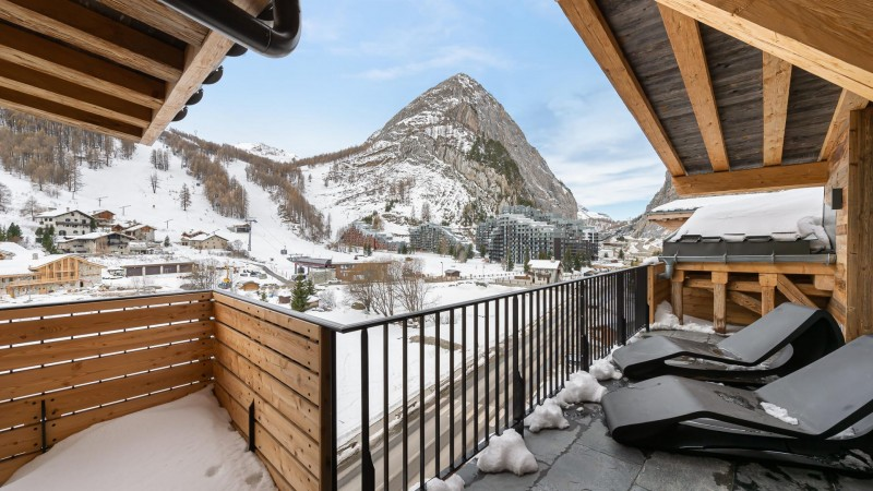 Val d'Isère Location Appartement Luxe Varvite Terrasse