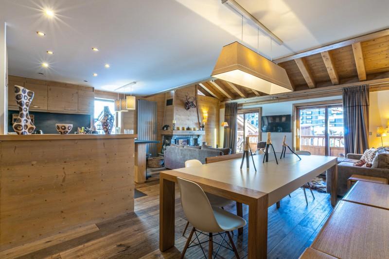 Val d'Isère Luxury Rental Apartment Vatelis Dining Area