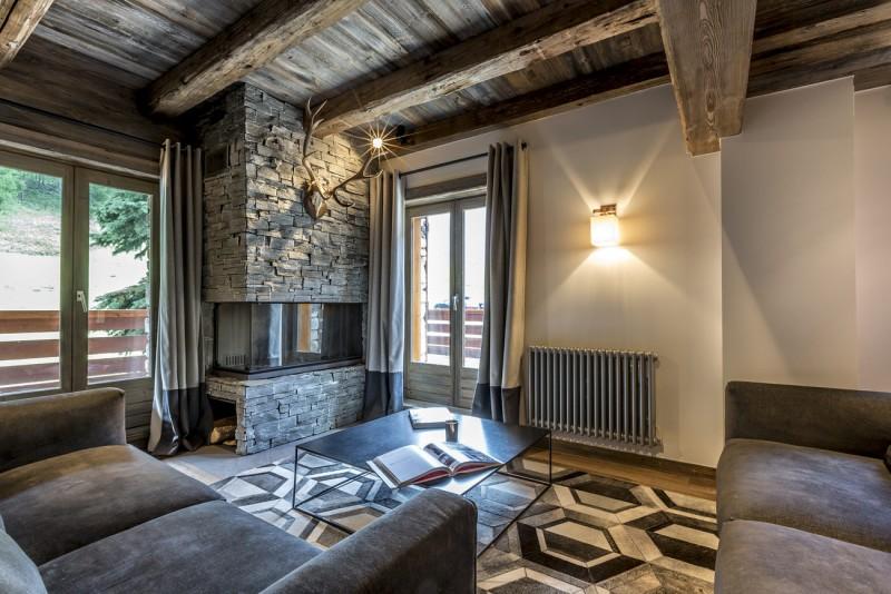 Val d'Isère Luxury Rental Appartment Vatilis Living Area