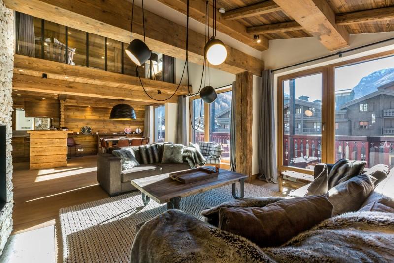 Val d'Isère Location Appartement Luxe Vatolis Séjour 3