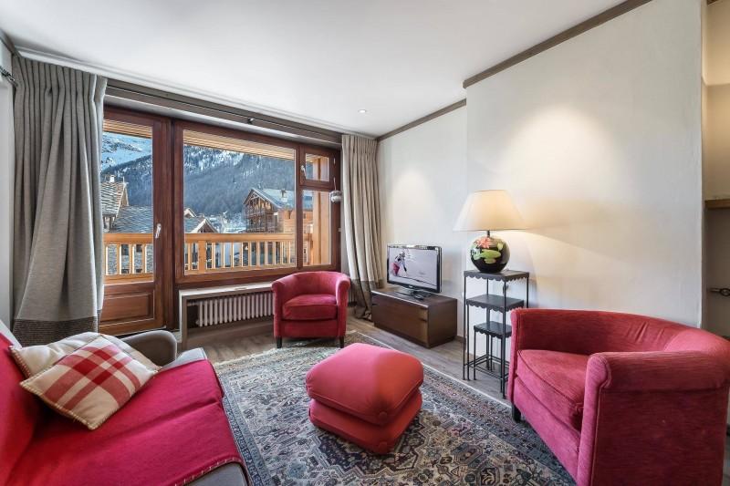 Val d'Isère Location Appartement Luxe Vazuli Séjour 2