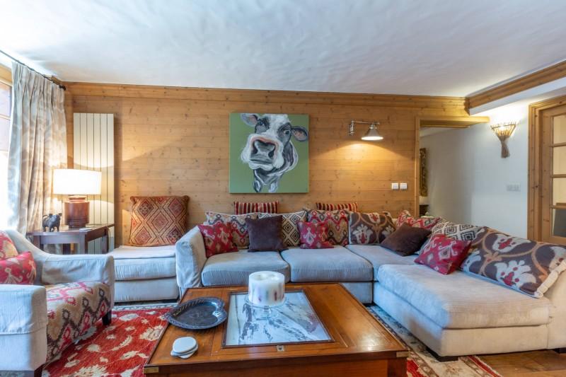 Val d'Isère Location Appartement Luxe Veridine Séjour 2
