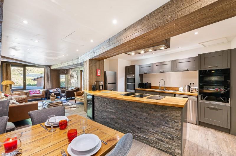 Val d'Isère Location Appartement Luxe Vigiz Salle A Manger
