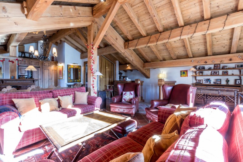 Val d'Isère Location Appartement Luxe Violane Séjour