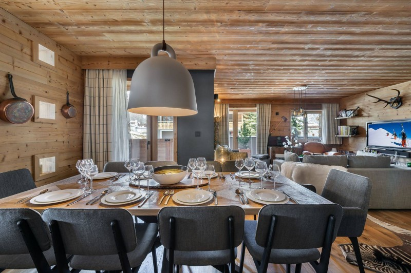 Val d'Isère Luxury Rental Appartment Virlonte Dining Area 3