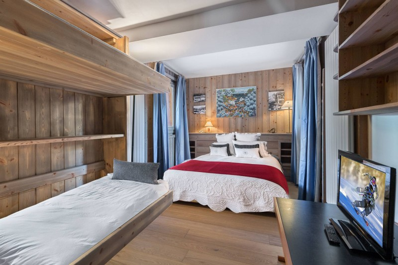 Val d'Isère Location Appartement Luxe Vitali  Chambre