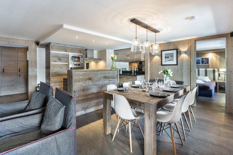 Val d'Isère Luxury Rental Appartment Viteli Dining Area