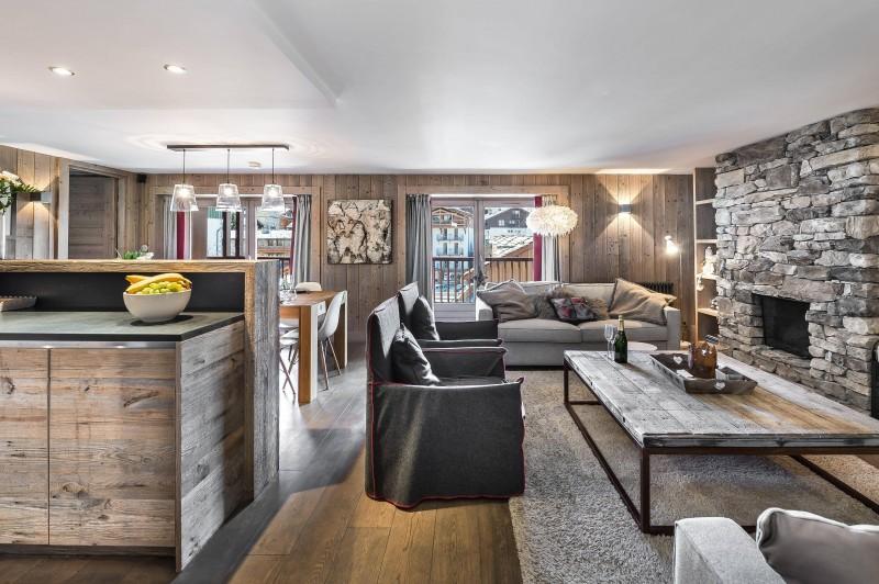 Val d'Isère Location Appartement Luxe Viteli Séjour