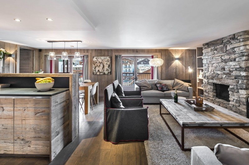 Val d'Isère Luxury Rental Appartment Viteli Living Area