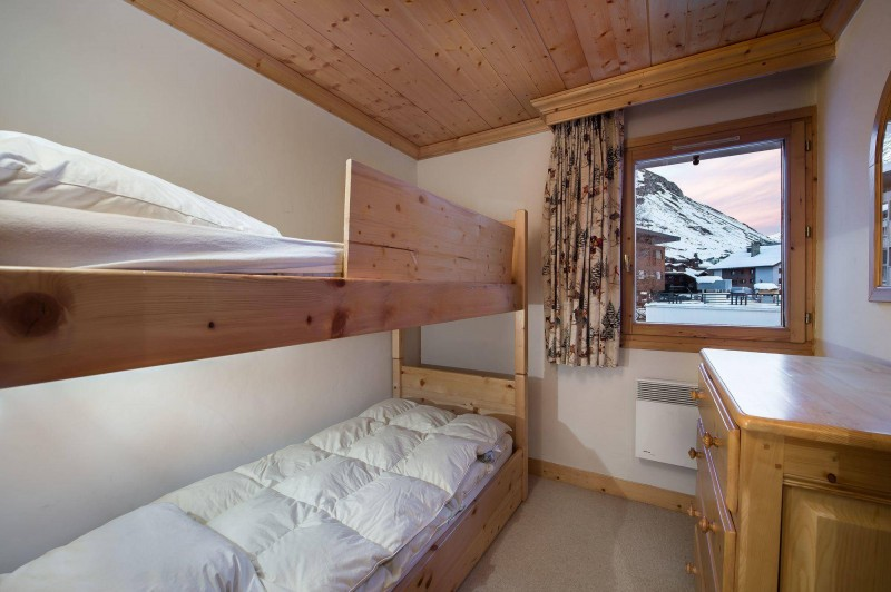 Val d'Isère Location Appartement Luxe Vitolan Chambre