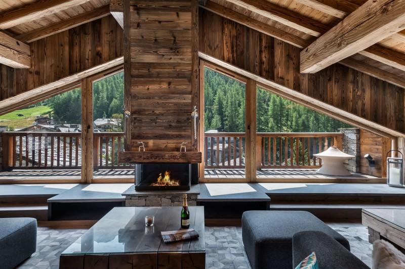 Val d'Isère Location Chalet Luxe Tellanche Séjour 2