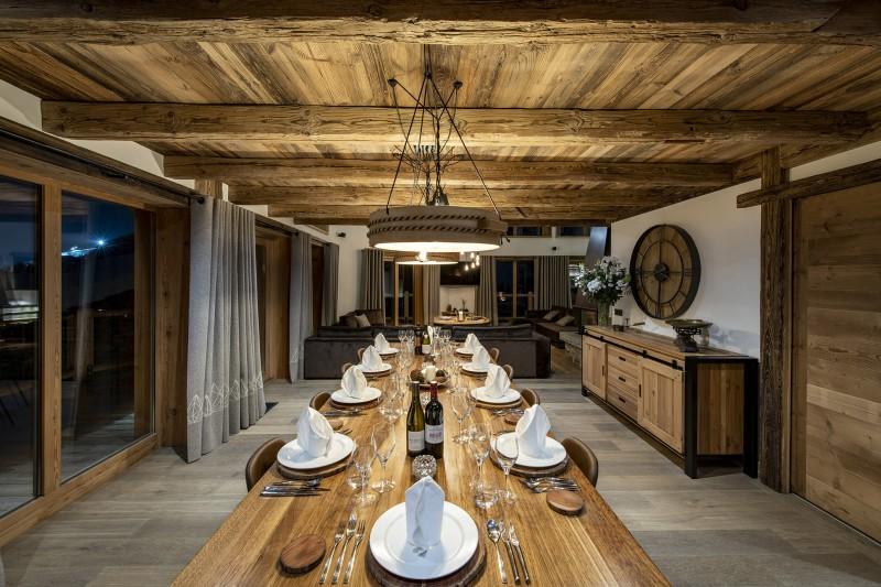Val D'Isère Luxury Rental Chalet Umbate Dining Room 2