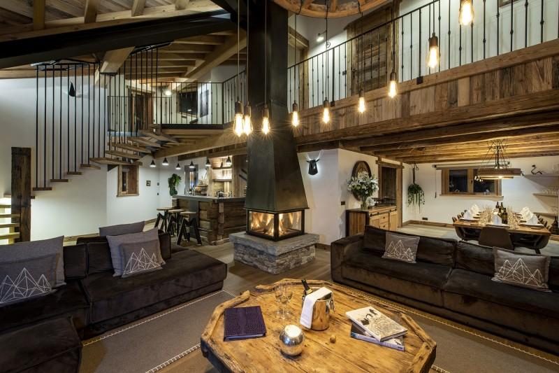 Val D'Isère Luxury Rental Chalet Umbate Living Room 2