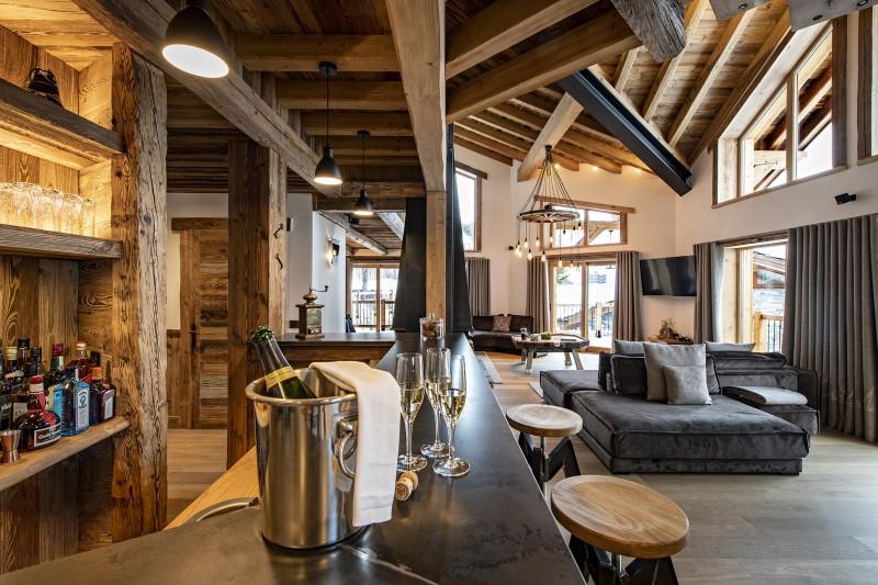 Val D'Isère Luxury Rental Chalet Umbate Living Room