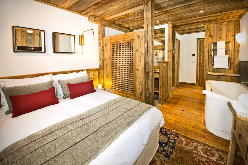 Val D'Isère Location Chalet Luxe Umbite Chambre
