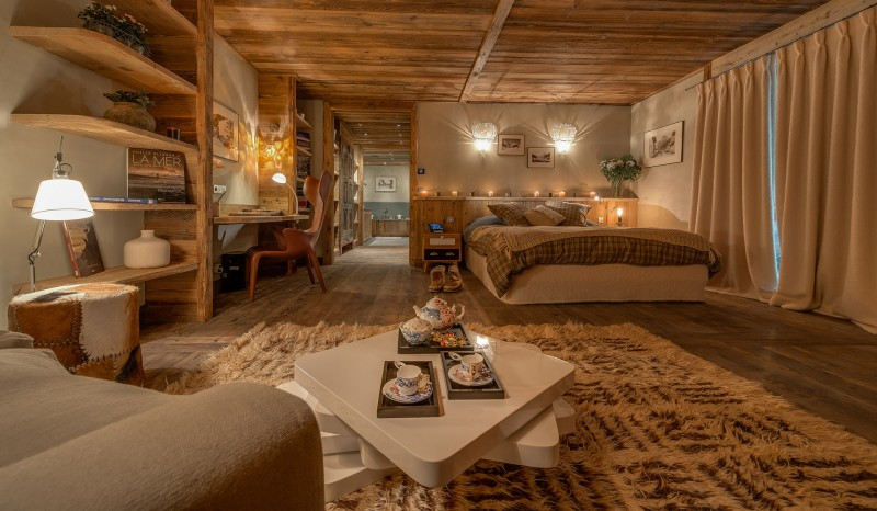 Val D'Isère Location Chalet Luxe Umbute Chambre 2