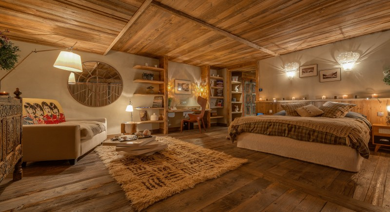 Val D'Isère Location Chalet Luxe Umbute Chambre