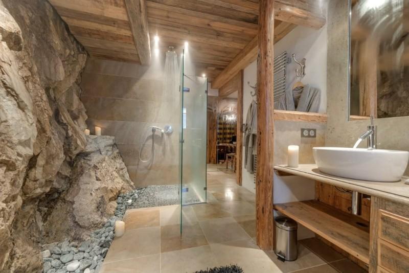 Val d'Isère Location Chalet Luxe Unakite Douche