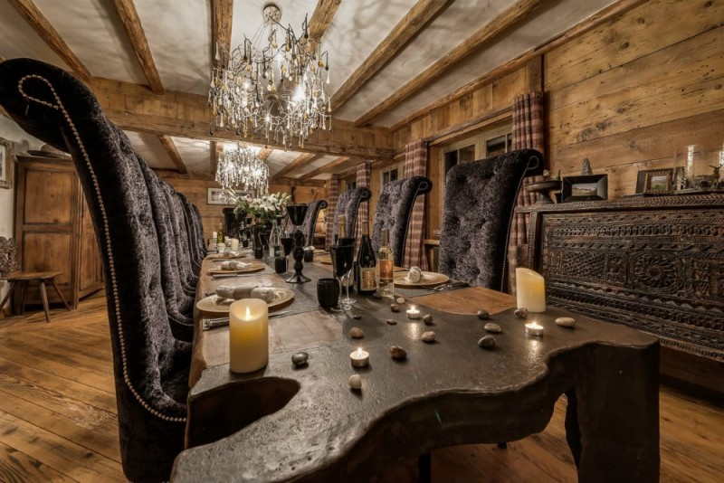 Val d'Isère Location Chalet Luxe Unakite Table