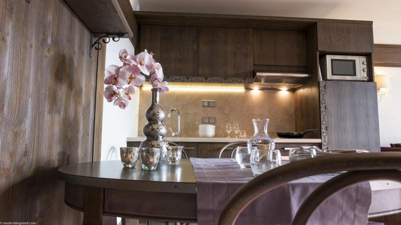 Val Thorens Location Appartement Luxe Valoukite Cuisine