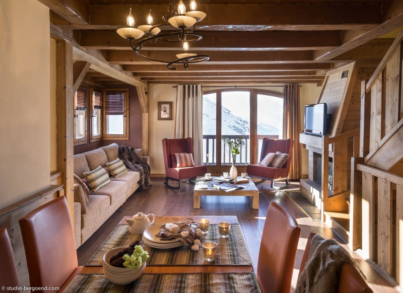 Val Thorens Rental Appartment Luxury Volcanite Living Room 1