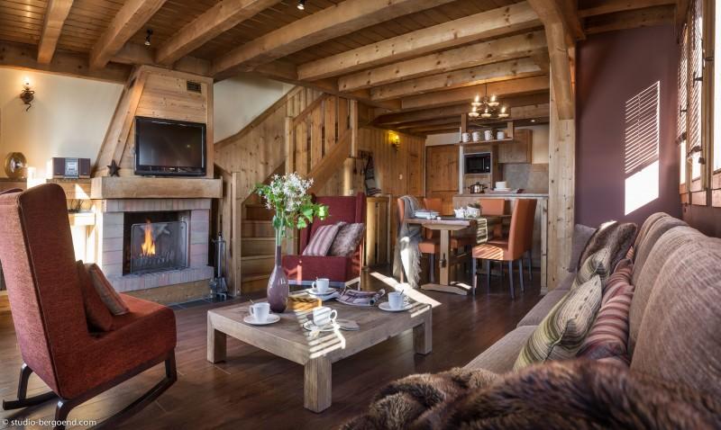 Val Thorens Rental Appartment Luxury Volcinite Living Room