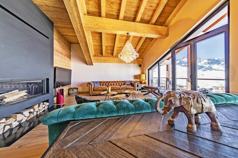 Val Thorens Luxury Rental Chalet Olidan Living Area 2