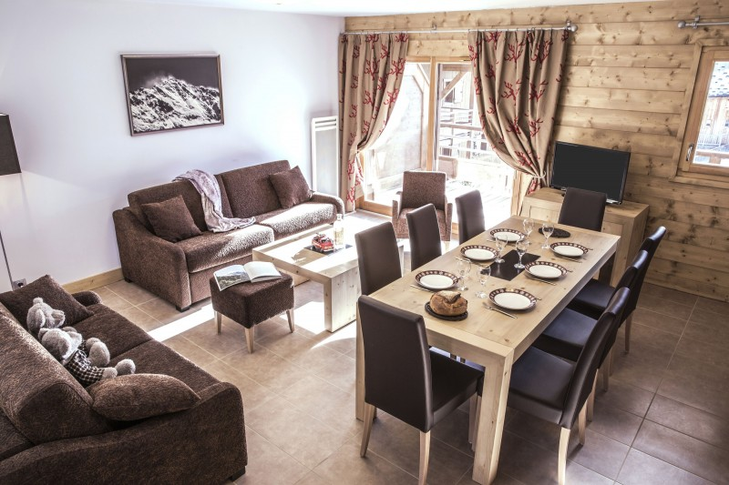 Valmorel Location Appartement Luxe Ferune Duplex Salon